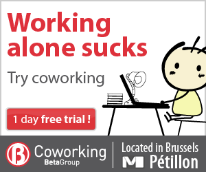 Working alone sucks: try coworking in Brussels