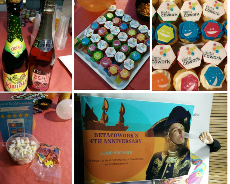 betacowork anniversary collage